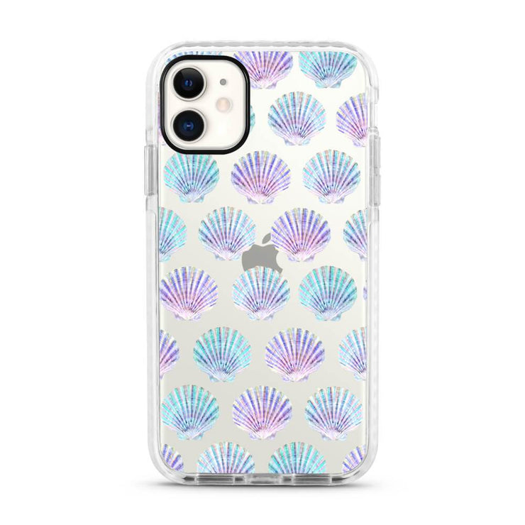 Seashells - Protective White Bumper Mobile Phone Case-Minca Cases