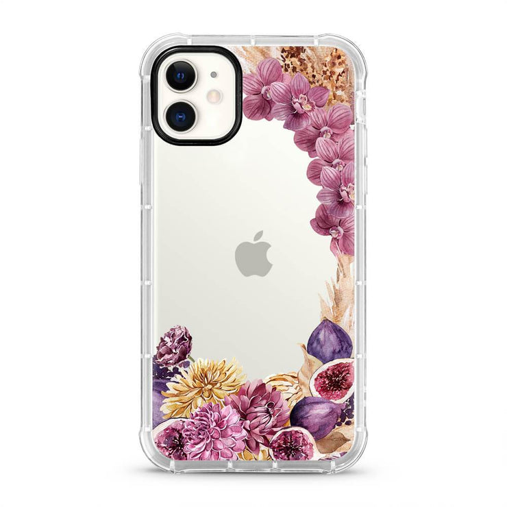 Purple Gold Flowers - Protective Air Cushion Mobile Phone Case-Minca Cases