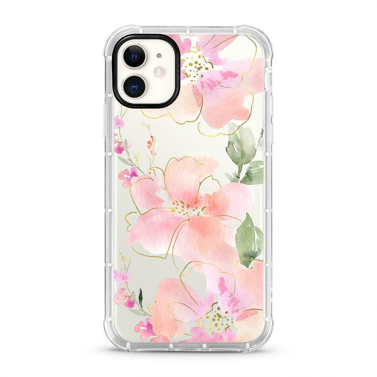 Light Pink Floral - Protective Air Cushion Mobile Phone Case-Minca Cases