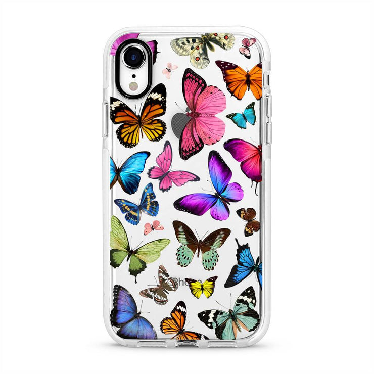 Butterflies - Protective White Bumper Mobile Phone Case-Minca Cases