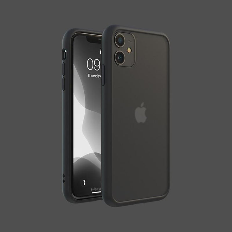 Black Military Frosted Shockproof Mobile Phone Case-Minca Cases