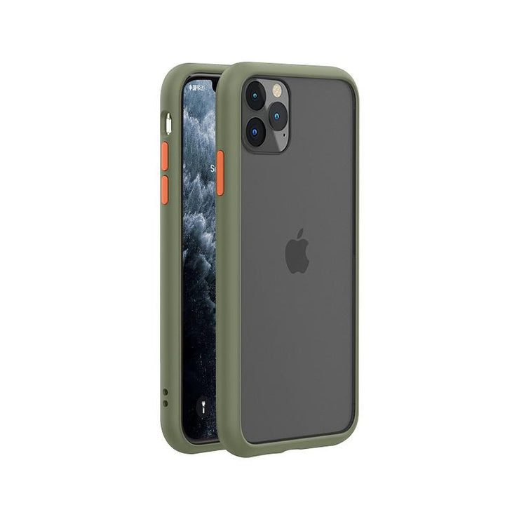 Khaki Military Frosted Shockproof Mobile Phone Case-Minca Cases