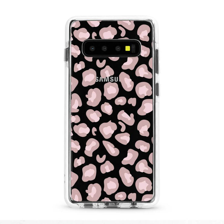 Pink Leopard - Protective White Bumper Mobile Phone Case-Minca Cases