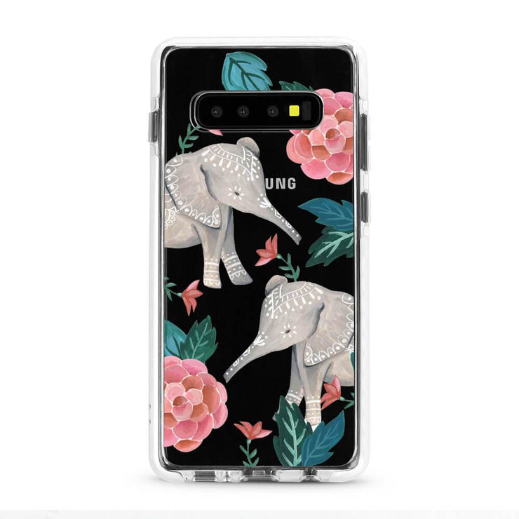 Elephant - Protective White Bumper Mobile Phone Case