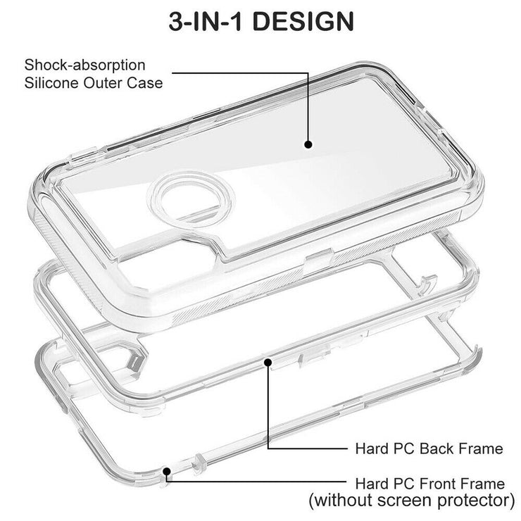 Transparent Heavy Duty Shockproof Mobile Phone Case