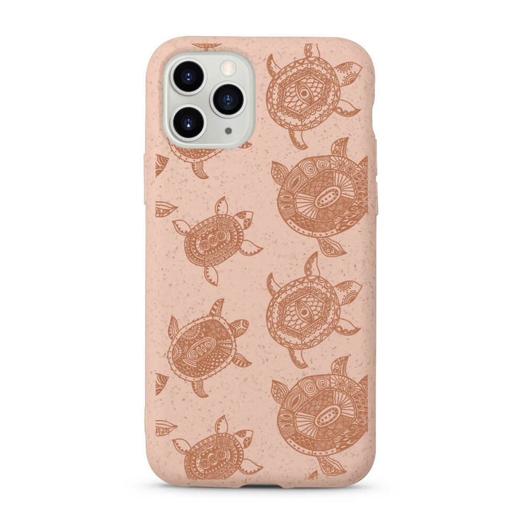 Turtles - Pink Printed Eco Friendly Mobile Phone Case-Minca Cases