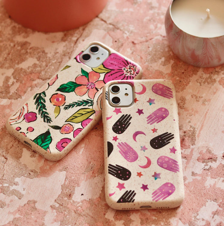 Flower Power - White Printed Eco-Friendly Compostable Mobile Phone Case