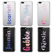 Vertical Gradient Text  Custom Personalised Name Monogram Mobile Phone Case