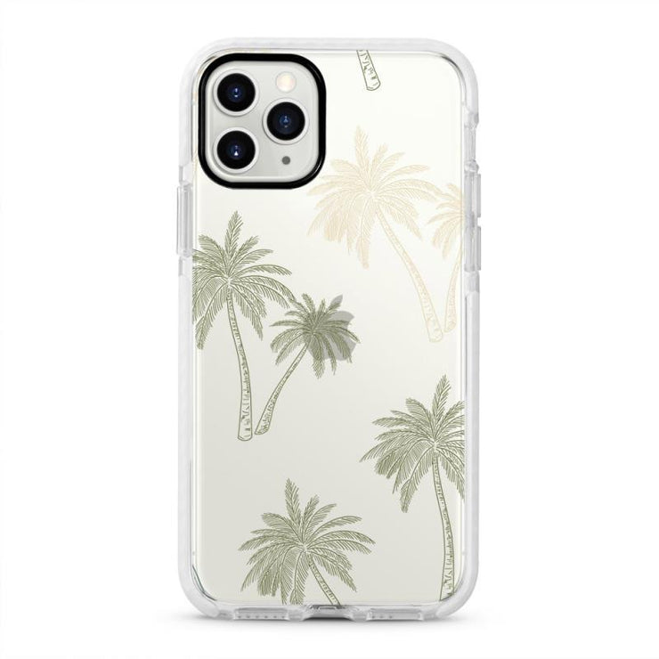 Palm Tree - Protective White Bumper Mobile Phone Case