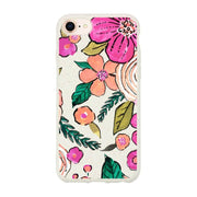 Flowers - White Printed Eco Friendly Mobile Phone Case-Minca Cases
