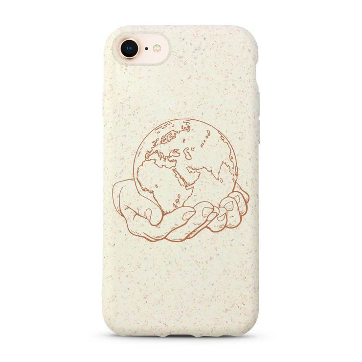 World - White Printed Eco Friendly Mobile Phone Case-Minca Cases