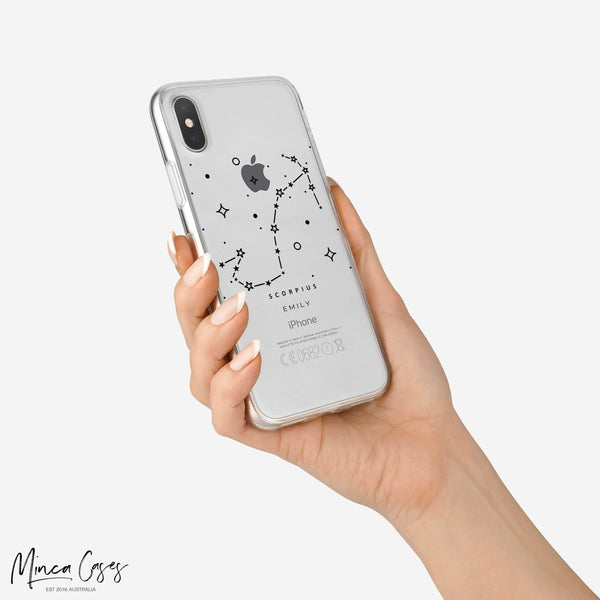 Astronomy Constellation Zodiac Star Sign Horoscope Custom Personalised Name Monogram Mobile Phone Case - Minca Cases Australia