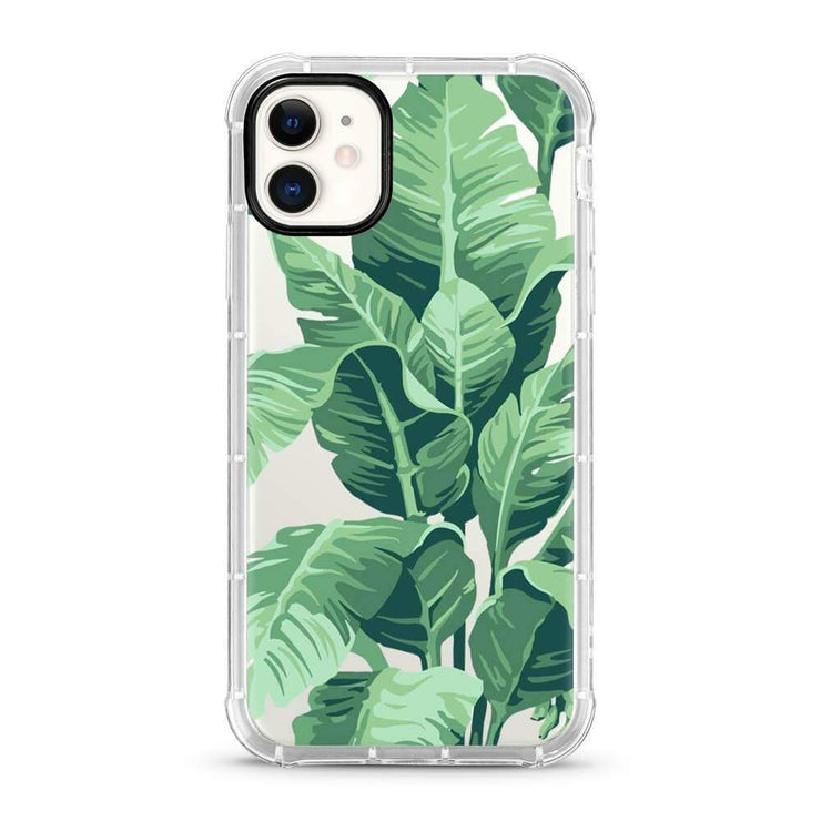 Banana Palm Leaves 3D Embossed Protective Air Cushion Mobile Phone Case - Minca Cases Australia