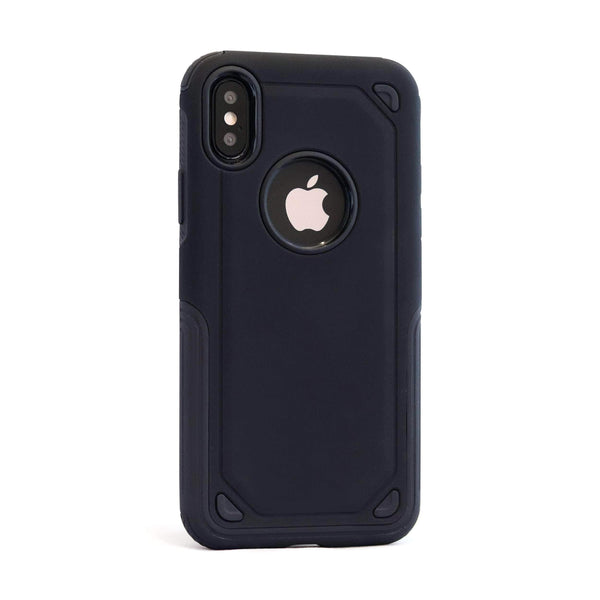 Black Hybrid Shockproof Mobile Phone Case - Minca Cases Australia