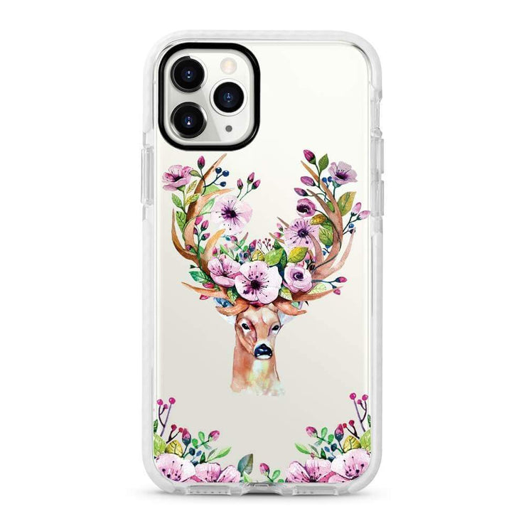 Deer - Protective White Bumper Mobile Phone Case-Minca Cases