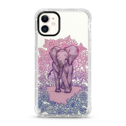 Elephant - 3D Embossed Protective Air Cushion Mobile Phone Case - Minca Cases Australia