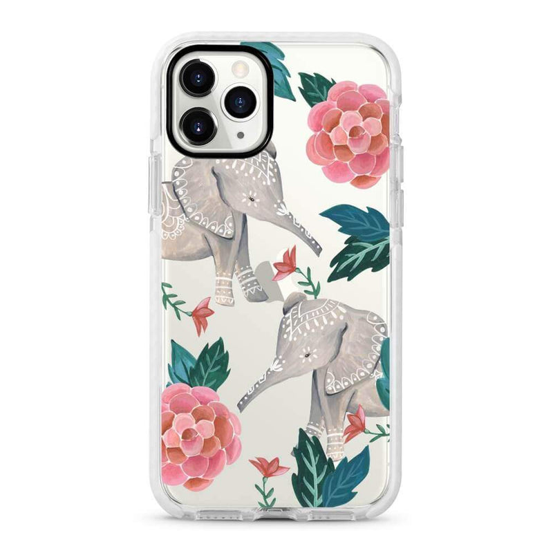 Elephant - Protective White Bumper Mobile Phone Case - Minca Cases Australia