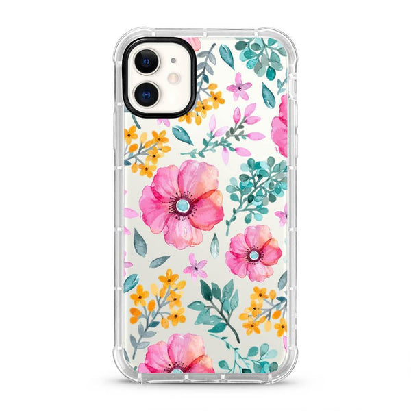 Flowers - 3D Embossed Protective Air Cushion Mobile Phone Case - Minca Cases Australia