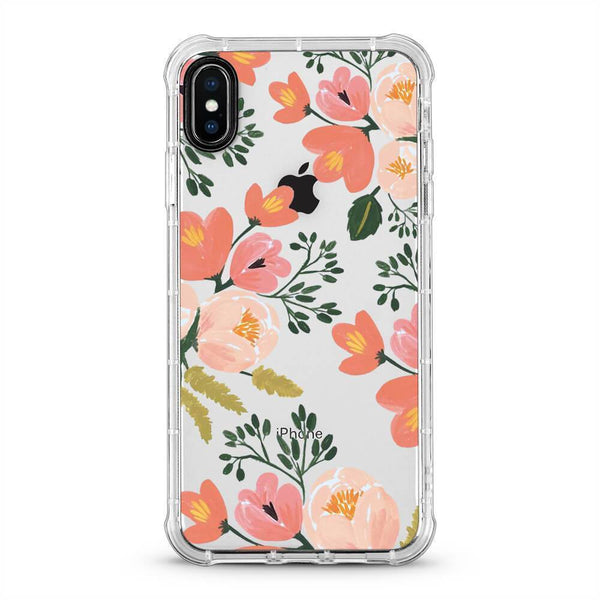 Garden Flowers - 3D Embossed Protective Air Cushion Mobile Phone Case - Minca Cases Australia