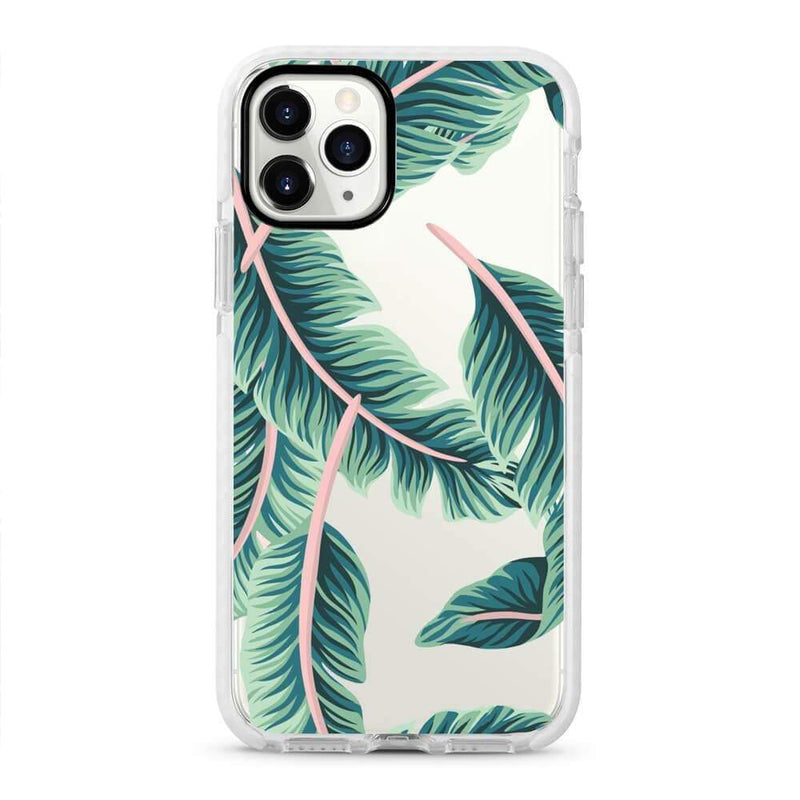 Green Palms - Protective White Bumper Mobile Phone Case - Minca Cases Australia