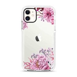 Pink Flower - Protective White Bumper Mobile Phone Case