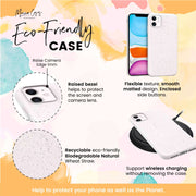 World - White Printed Eco Friendly Mobile Phone Case