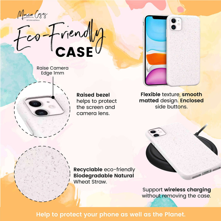 World White Carved Eco Friendly Mobile Phone Case