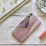 Pink Galaxy Marble Mobile Phone Case