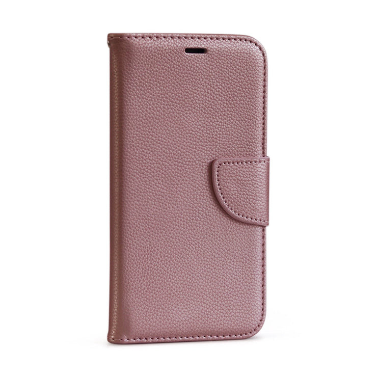 Rose Gold PU Litchi Leather Wallet Flip Mobile Phone Case-Minca Cases