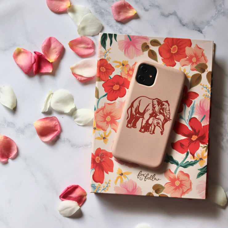 Elephant - Pink Printed Eco Friendly Mobile Phone Case-Minca Cases