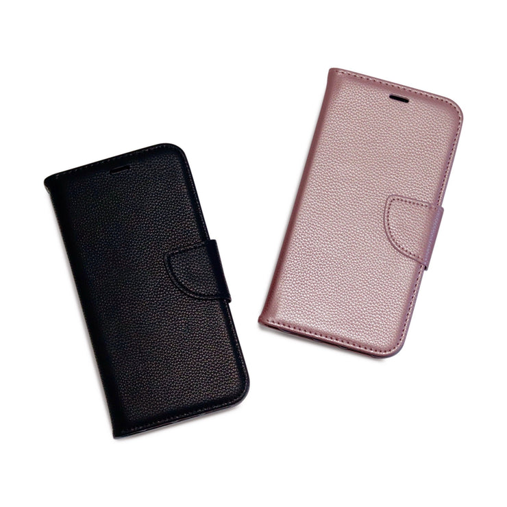 Rose Gold PU Litchi Leather Wallet Flip Mobile Phone Case