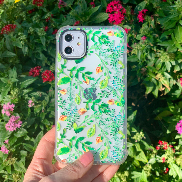 Green Vine - Protective Air Cushion Mobile Phone Case-Minca Cases