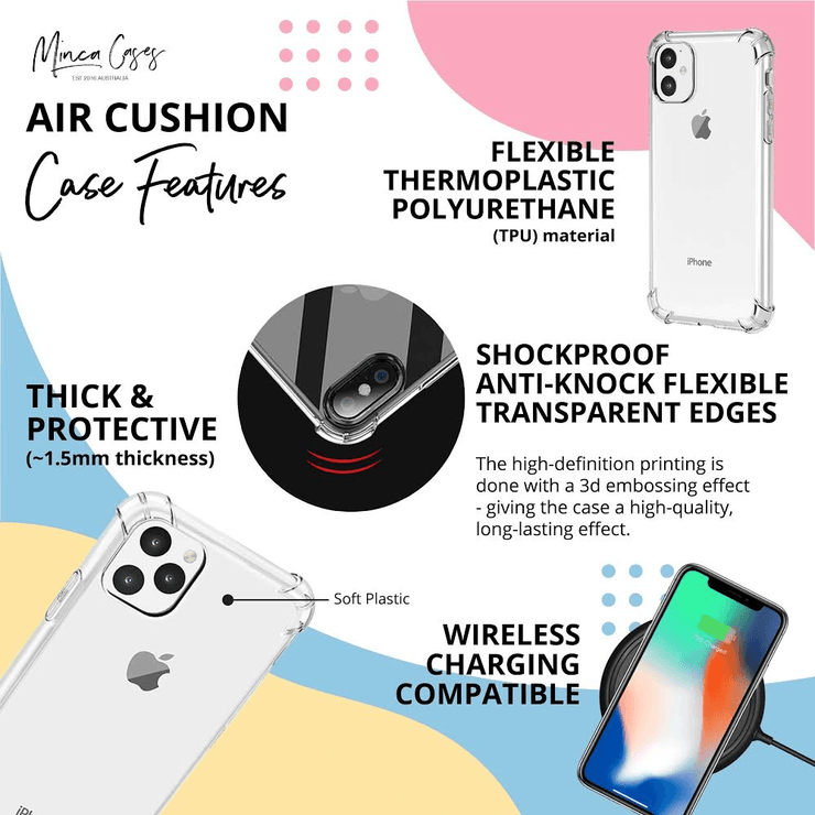 Glamour Floral - Protective Air Cushion Mobile Phone Case-Minca Cases