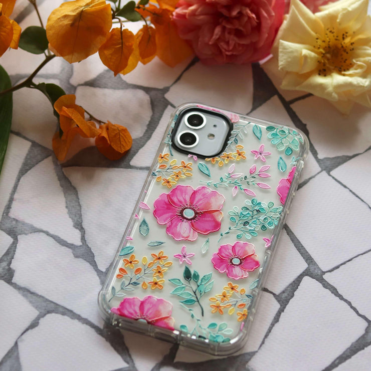 Flowers - Protective Air Cushion Mobile Phone Case-Minca Cases