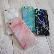 Pink Holographic Chrome Marble Mobile Phone Case-Minca Cases