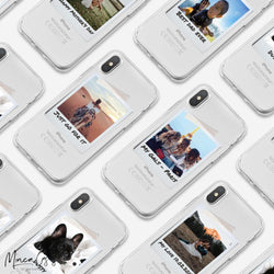 Polaroid Photo Print Custom Personalised Name Monogram Mobile Phone Case - Minca Cases Australia