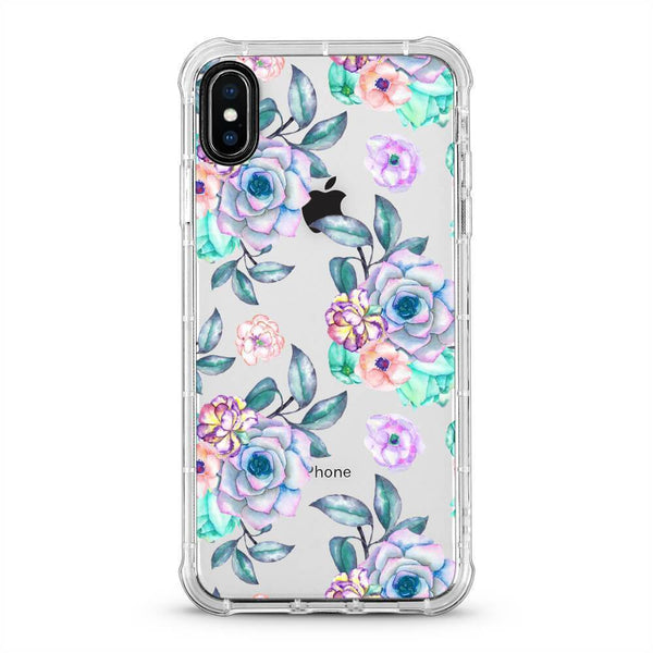 Purple Flowers - 3D Embossed Protective Air Cushion Mobile Phone Case - Minca Cases Australia