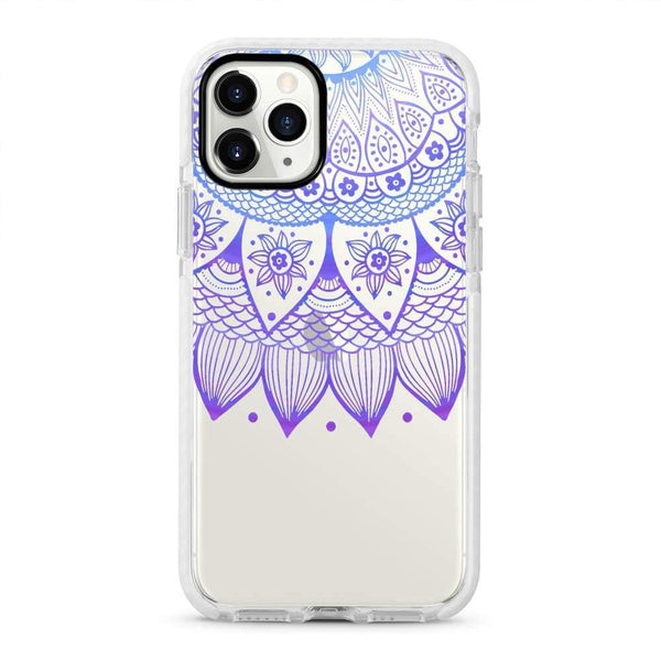 Purple Henna - Protective White Bumper Mobile Phone Case - Minca Cases Australia