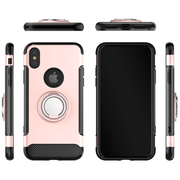 Rose Gold Hybrid Shockproof Ring Stand Mobile Phone Case-Minca Cases