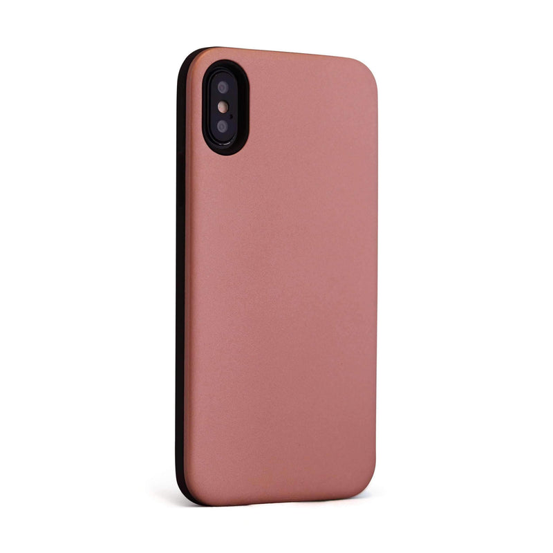 Rose Gold Smooth Hybrid Mobile Phone Case - Minca Cases Australia