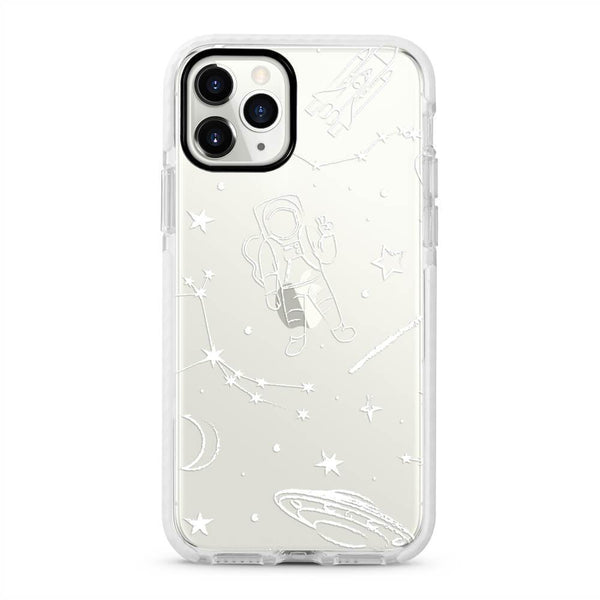 Spaceman - Protective White Bumper Mobile Phone Case - Minca Cases Australia