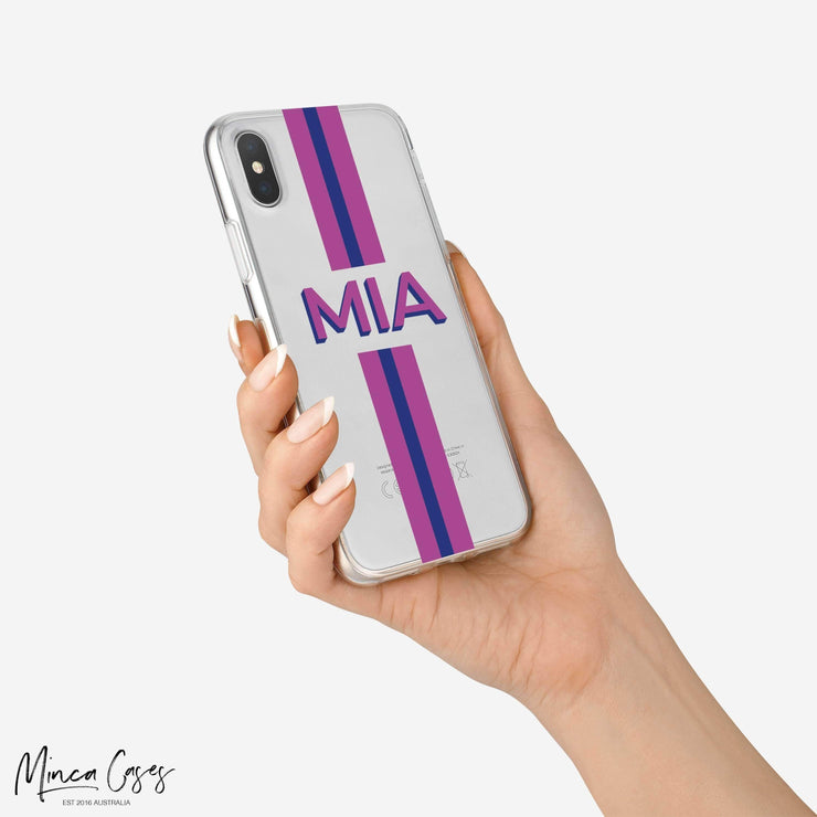 Striped Dropshadow Custom Personalised Name Monogram Mobile Phone Case-Minca Cases