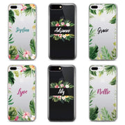 Summer Tropical Design Custom Personalised Name Monogram Mobile Phone Case - Minca Cases Australia
