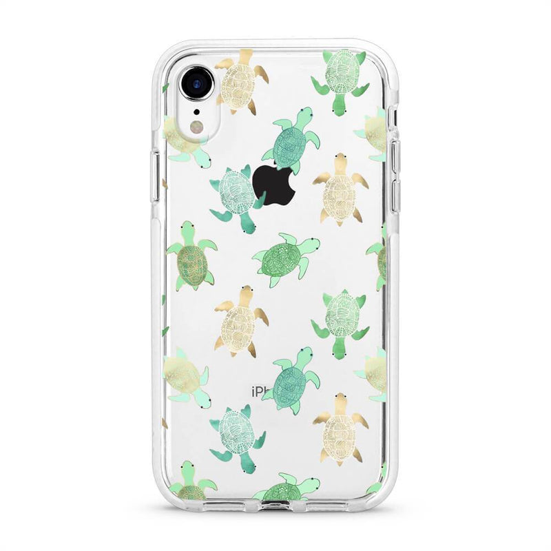 Turtles - Protective White Bumper Mobile Phone Case - Minca Cases Australia