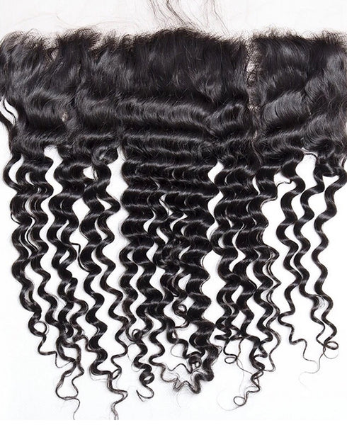 Peruvian Pre-Plucked  Deep Curly Lace Closure 8-18 inches