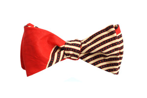 Red Stripe Bow Tie - Angelo Igitego