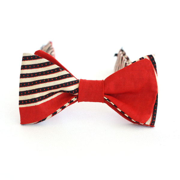 Red Stripe Bow Tie - Kids - Angelo Igitego