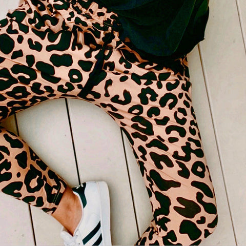 Jordan Top - Tan Leopard