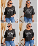 Team Celine Tee - Black *On Preorder*
