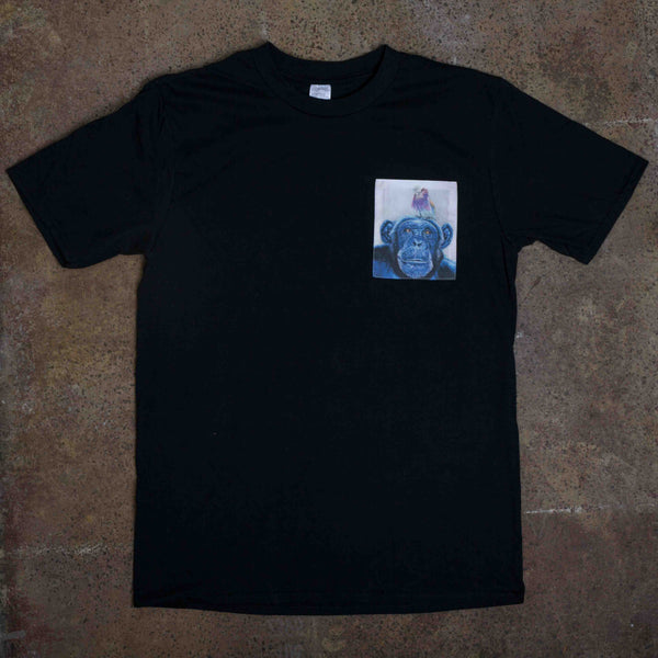 SAMPLE SALE Billy and Blue Black Pocket Tee